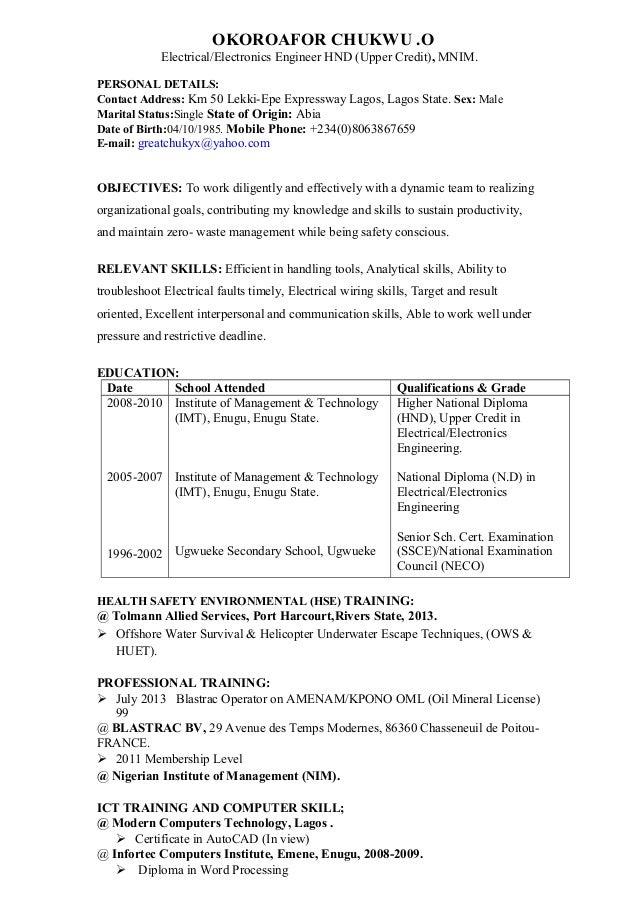 OKOROAFOR ,CV (Autosaved) 2
