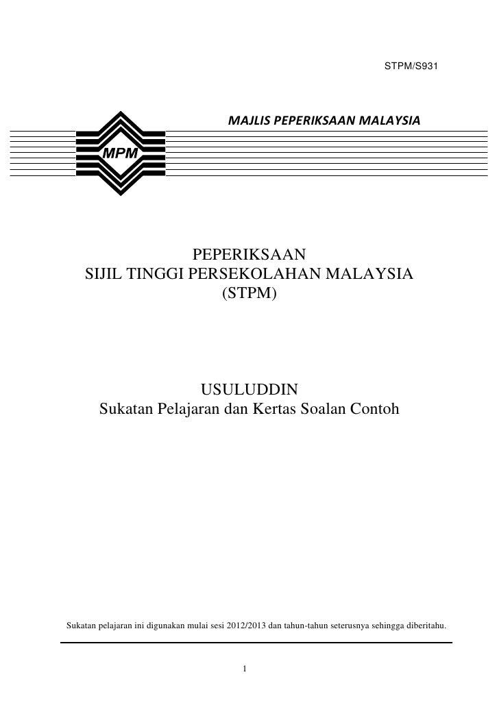 STPM/S931                                          MAJLIS PEPERIKSAAN MALAYSIA                 PEPERIKSAAN    SIJIL TINGGI...