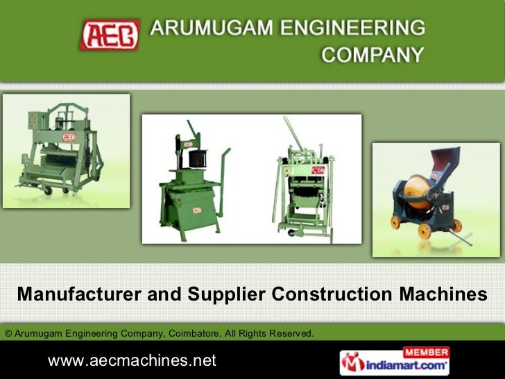 Manufacturer and Supplier Construction Machines