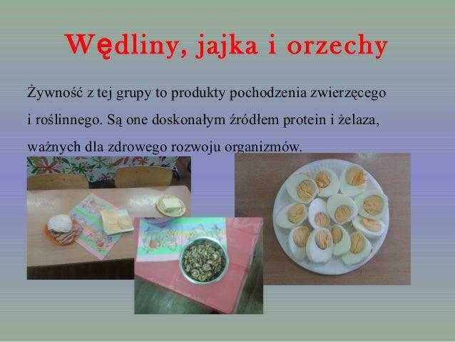 W dliny, ę jajka i orzechy  Żywność z tej grupy to produkty pochodzenia zwierzęcego  i roślinnego. Są one doskonałym źródł...