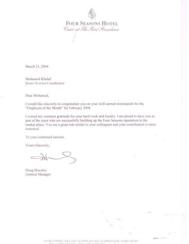 Four Seasons employee of the month letter in 2004.PDF