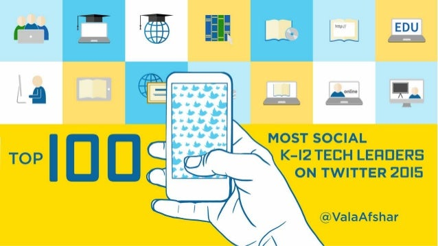 @ MOST SOCIAL K–I2 TECH LEADERS ON TWITTER 20I5 TOP I00 Teacher, Technology Administrator at Westwood Schools @coolcatteac...