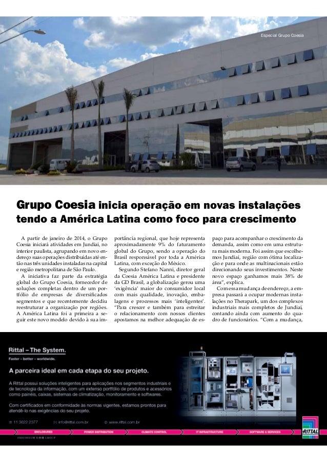 Grupo Coesia inicia operação em novas instalações tendo a América Latina como foco para crescimento A partir de janeiro de...