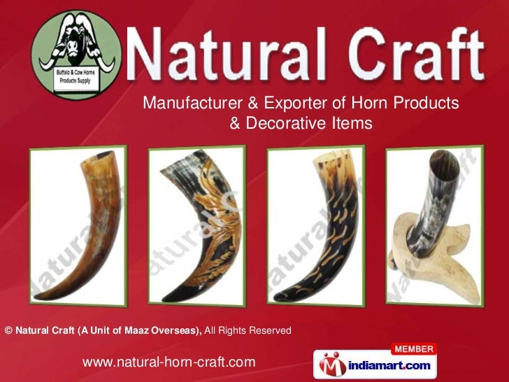 Manufacturer & Exporter of Horn Products                                       & Decorative Items© Natural Craft (A Unit o...