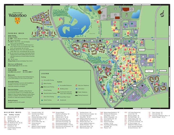 University Of Waterloo Campus Map University of Waterloo   Campus Map