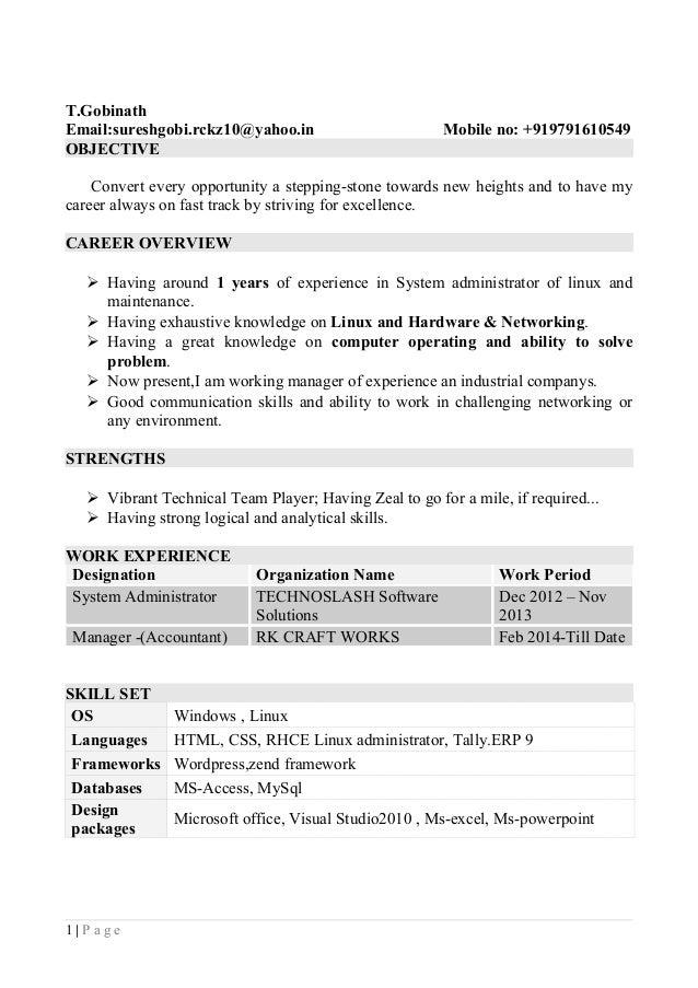 Gobinath.T Resume - Copy