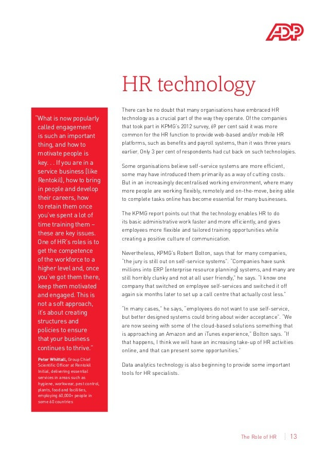 hr roles and responsabilities essay Free essay: we discuss the changing roles and responsibilities of human resources due to globalization in section 4 in section 5 we discuss global human.