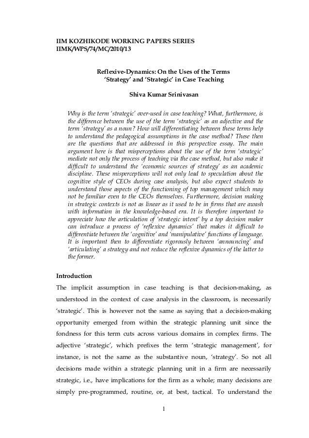 Essays for iim kozhikode