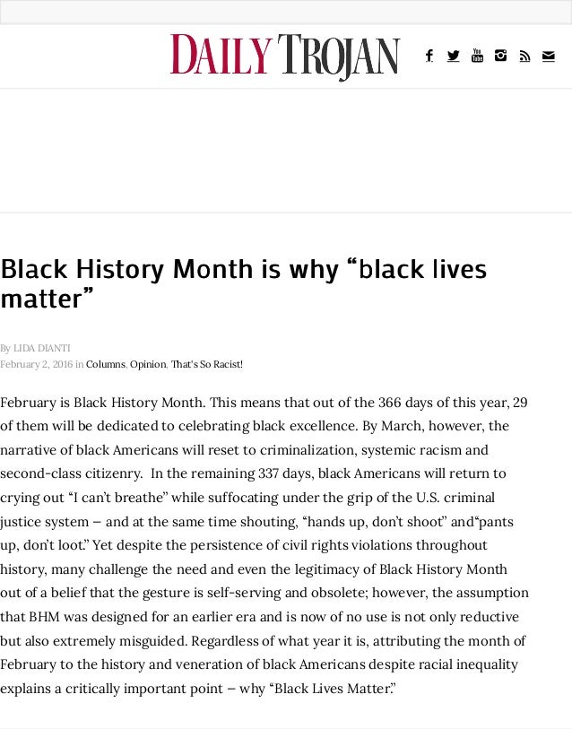 Why is Black History Month in February?