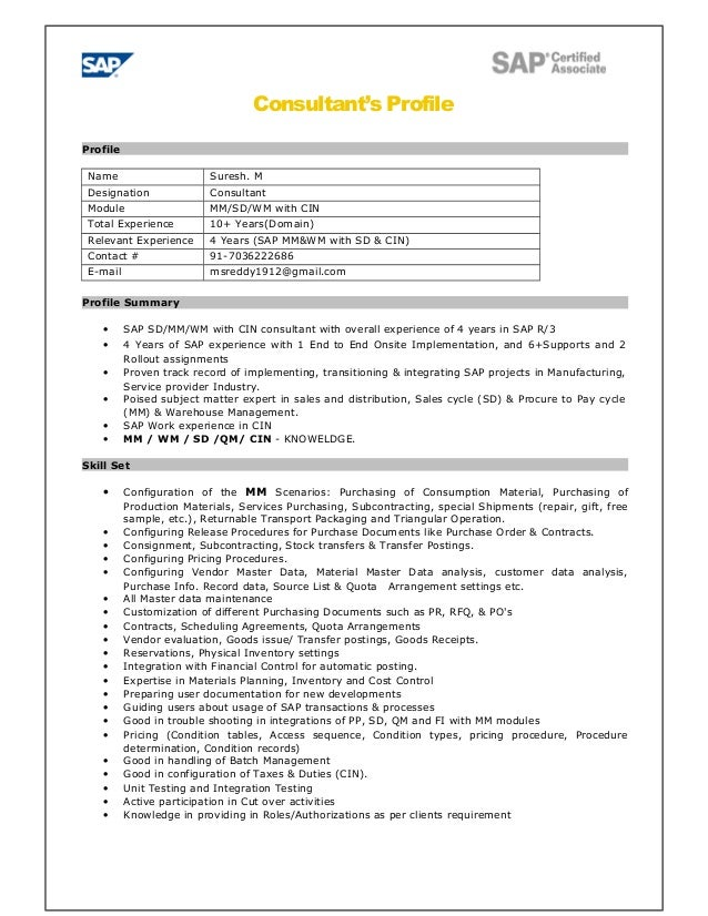 sap bw tester sle resume 28 images sap mm srm resume