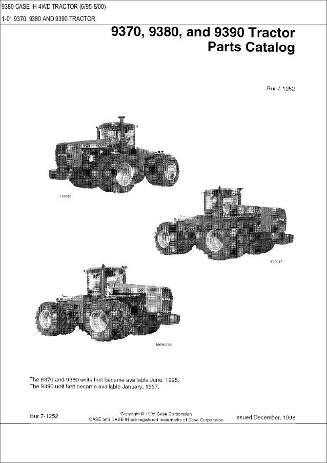 9370 9380 9390 case ih 4wd tractor parts catalog rh slideshare net Case IH 9380 Dimensions Case IH 8660