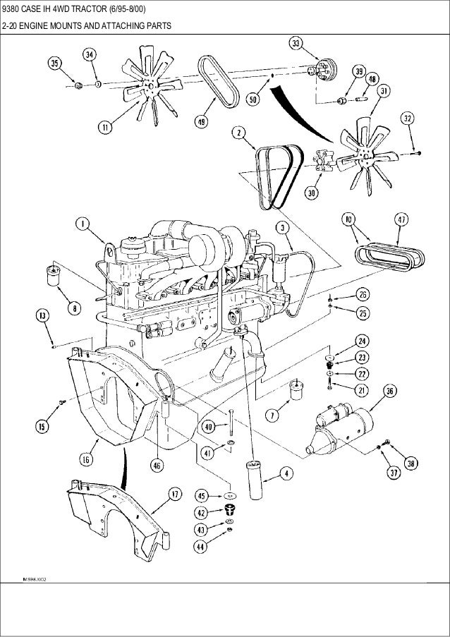 9370 9380 9390 Case Ih 4wd Tractor Parts Catalog