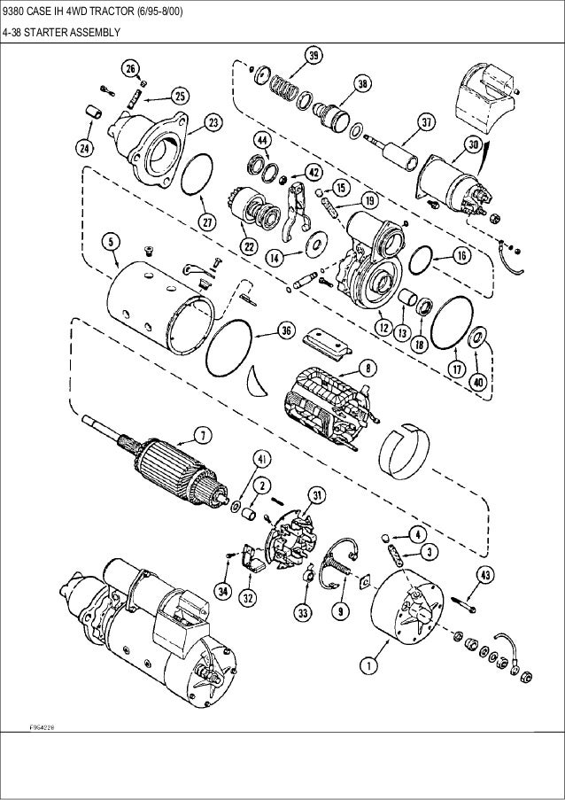 9370, 9380, 9390 CASE IH 4WD tractor parts catalog