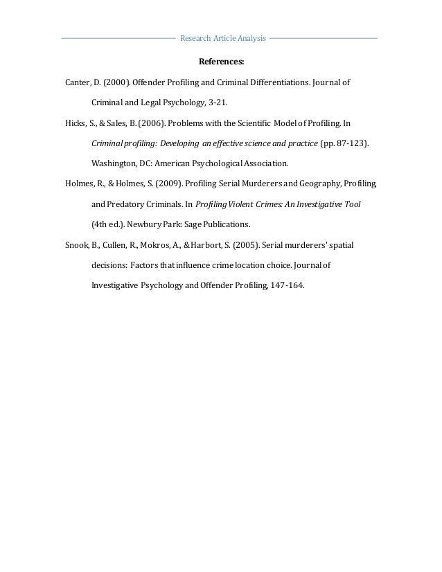 criminal profiling research artical paper 8