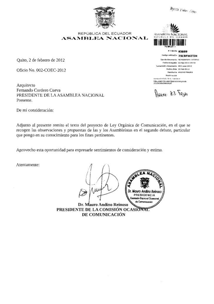 fe                                  REPÚBLICA DEL ECUADOR                      ASAMBÍ FA N A C I O N A L                  ...
