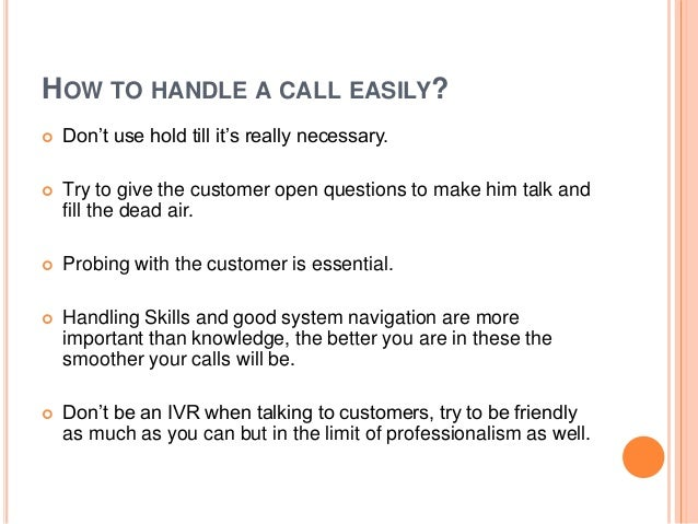 call handling and system tips