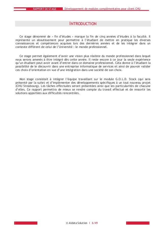 conclusion rapport de stage pharmacie