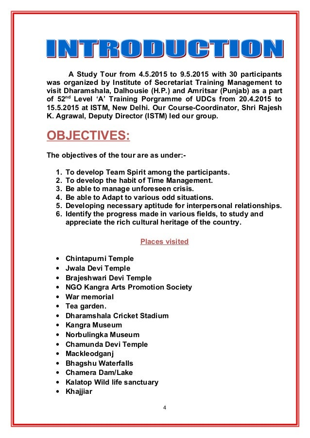 narrative report on educational tour Free essays on narrative report sample in educational tour for students use our papers to help you with yours 1 - 30.