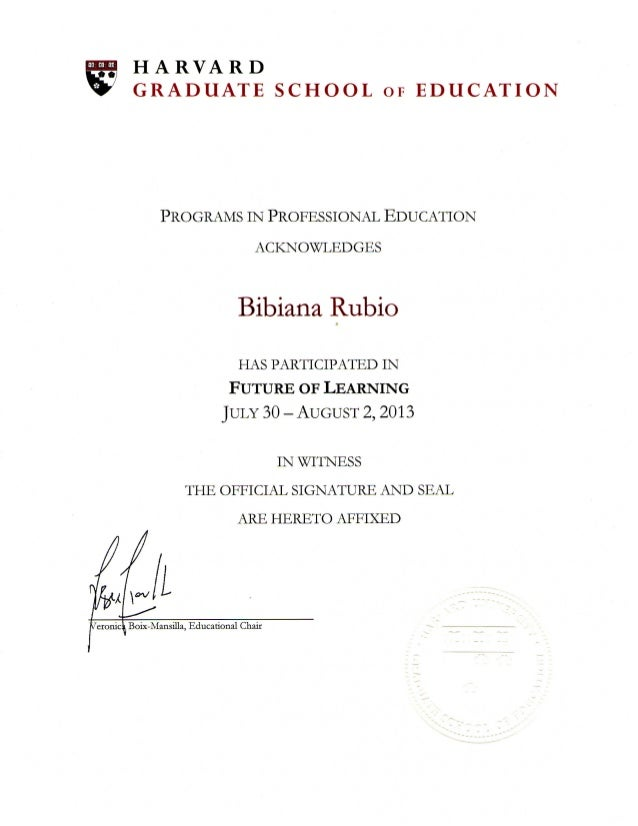 Harvard School Of Education >> Harvard Graduate School Of Education Future Of Learning P G 1