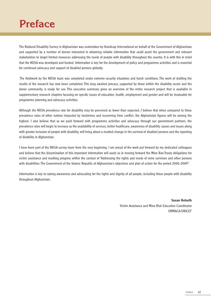 Foreword        For nearly twenty five years Handicap International has been involved in support to persons with disabiliti...