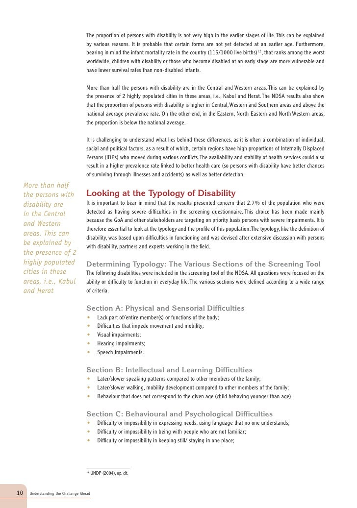 Mental disability shows a much more complex structure. However, the two forms that do appear clearly in                   ...