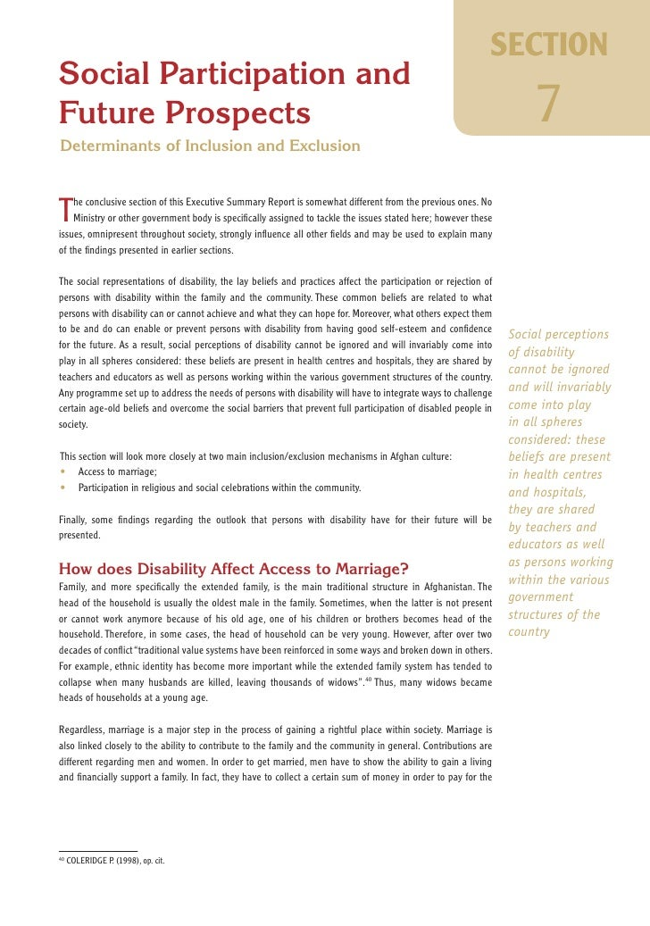 HI 93a -Understanding the challenge ahead : National disability survey in Afghanistan 2005, Executive summary report