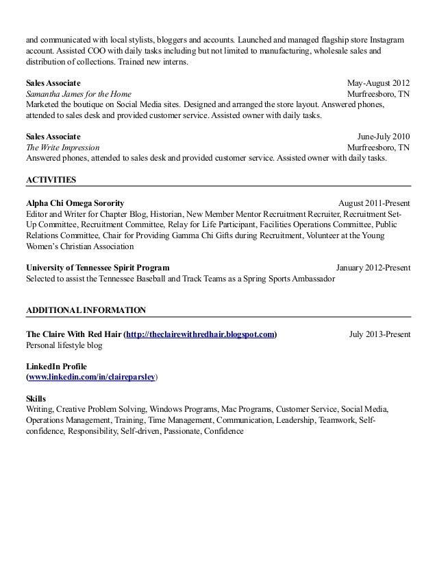 Harvard Style Resume 1.26.15
