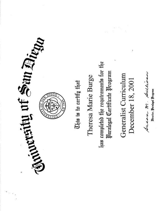 Usd Paralegal Certificate