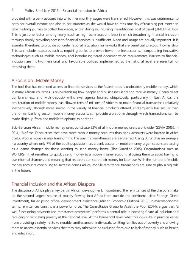 financial inclusion thesis Financial inclusion and integration through mobile payments  financial inclusion and integration through mobile payments  financial inclusion,.