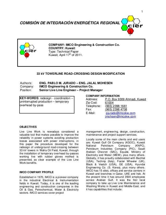 33 kV towerline roadcrossing design modification - Final (English)