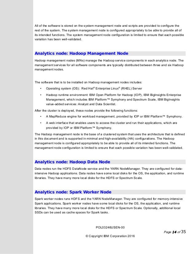 IBM Data Engine for Hadoop and Spark POWER System Edition ver1 Marc – Work Power Energy Worksheet