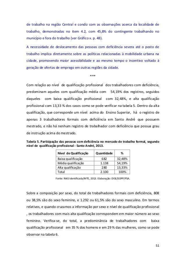 51 de trabalho na região Central e condiz com as observações acerca da localidade de trabalho, demonstradas no item 4.2, c...