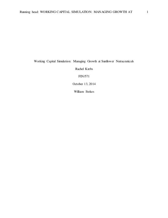 working capital simulation 2 Harvard business publishing: working capital simulation: managing growth assignment ch 1 - 21 offundamentals of corporate finance wileyplus assignments all additional resources from each week.