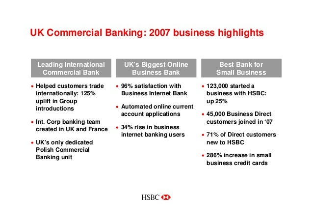 Hsbc in the uk annual results business specialists 6 reheart Images