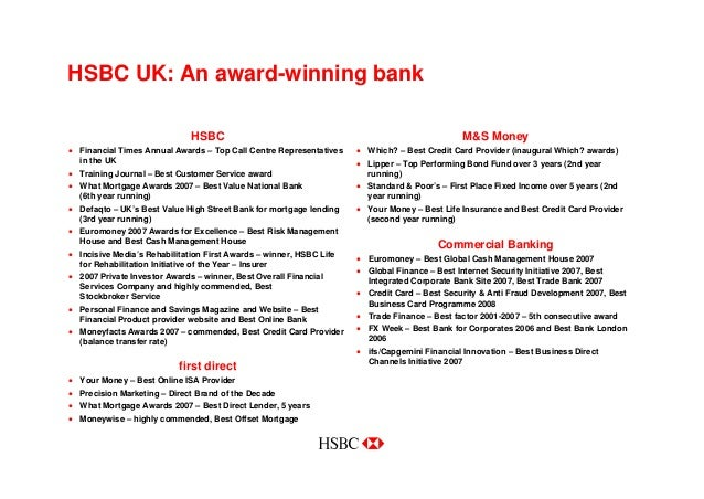 HSBC in the UK / Annual Results