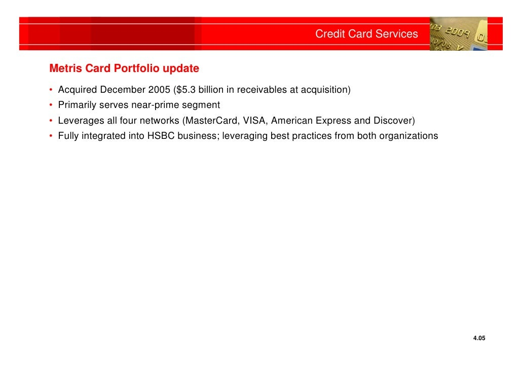 Hsbc chicago investor roadshow credit card services reheart Image collections