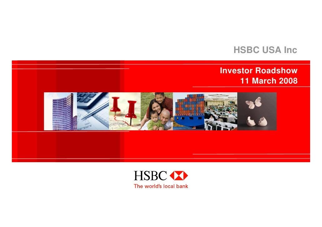 HSBC USA Inc  Investor Roadshow      11 March 2008