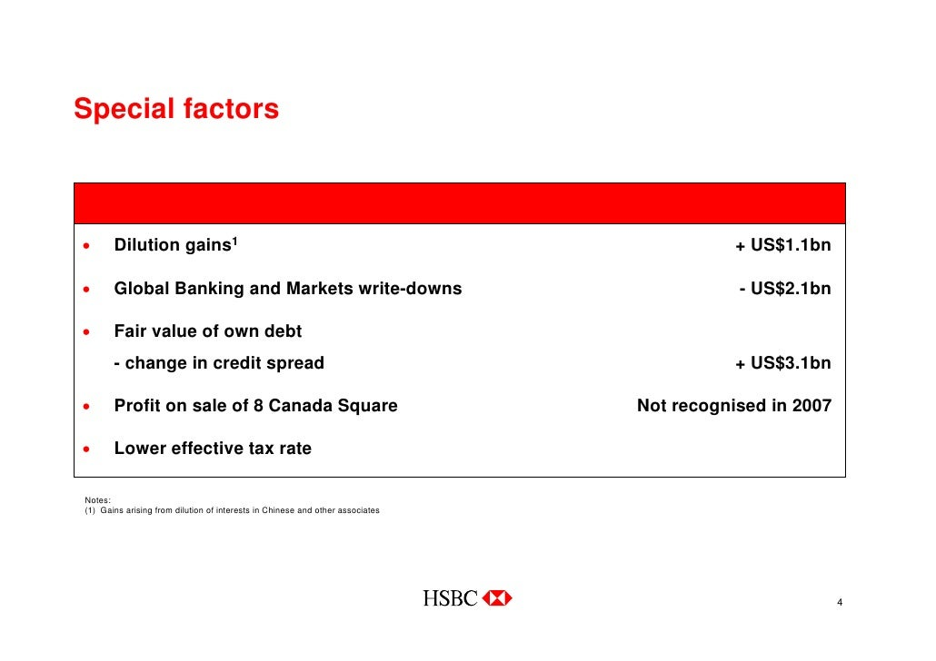 HSBC 2007 Annual Results Presentation to Investors and Analysts
