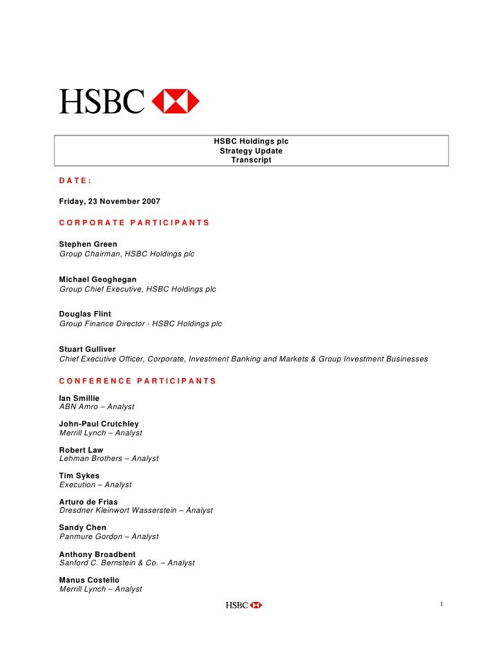 hsbc strategy update rh slideshare net