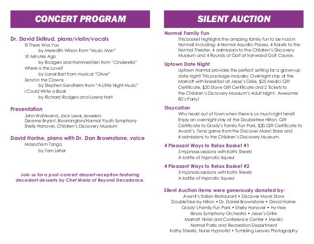 Doctors In Concert  Program