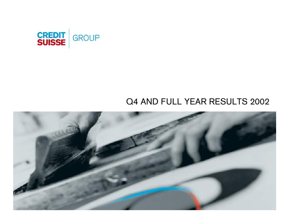 Q4 AND FULL YEAR RESULTS 2002                                Slide 0