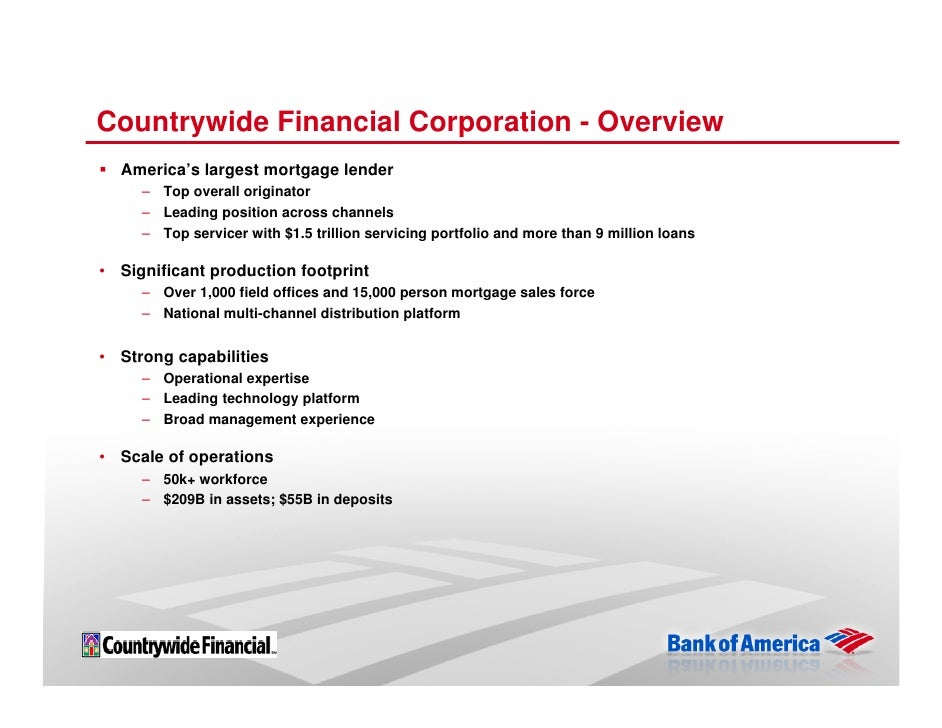 countrywide financial Company profile & key executives for countrywide financial corp (cfc:-) including description, corporate address, management team and contact info.