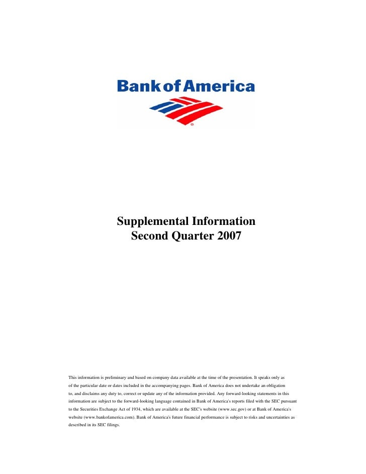 Supplemental Second Quarter 2007 Financial Information