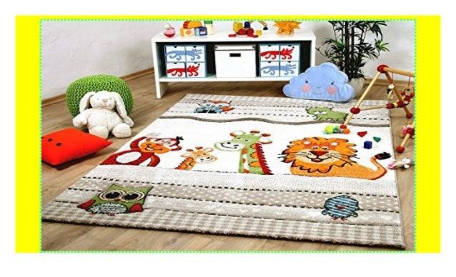 Savona Kinder und Spiel Teppich Kids Bunte Tierwelt Beige in 5 Größe…