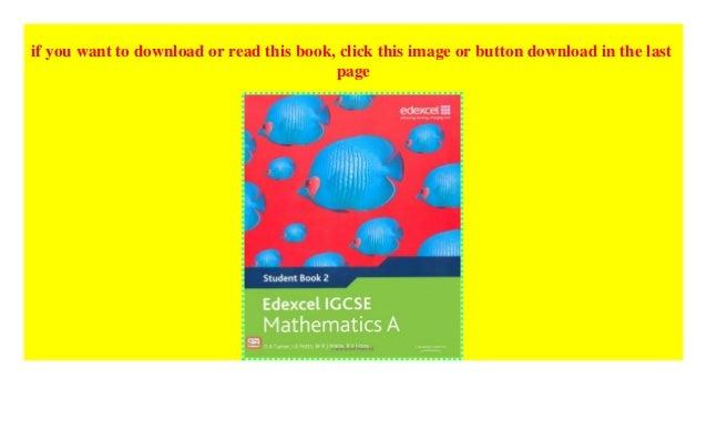 Edexcel Igcse Mathematics A Student Book 2 Edexcel Internationa
