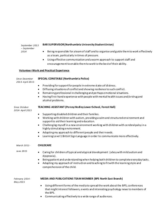Resume Returning To Work