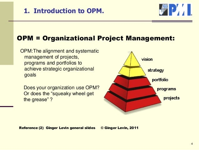 organizational project management Before proceeding to the adoption of a certain model like the organizational  project management maturity model (opm3) mainly used for an assessment in  later.