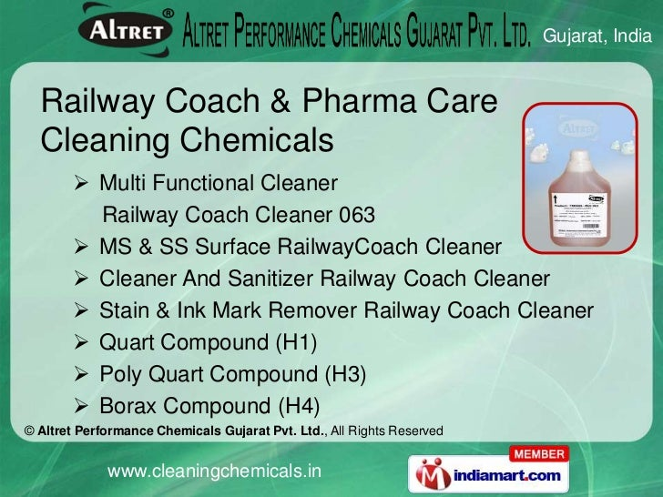 kitchen cleaning chemicals by altret performance chemicals gujarat private limited surat - Coach Cleaner