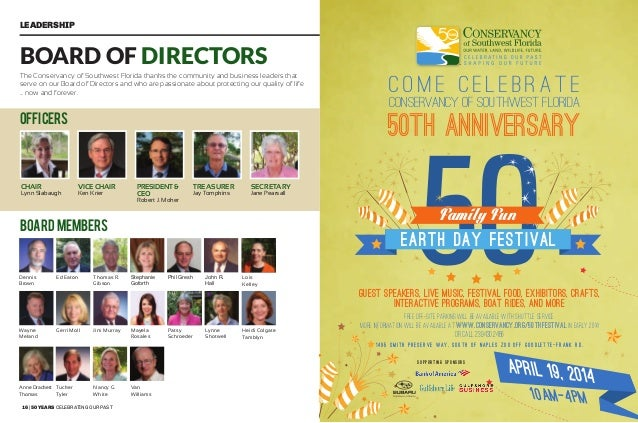 18   50 years celebrating our past 50 years shaping our future   19 People of Influence A Legacy of Leadership Since it wa...