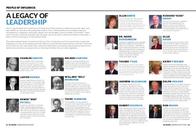 20   50 years celebrating our past 50 years shaping our future   21 Voices of our Support Nick & Linda Penniman Conservanc...
